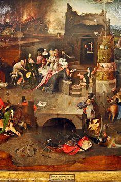 """""""Tentações de Santo Antão"""" (pormenor) - Museu Nacional de Arte Antiga - Lisboa - Portugal"""