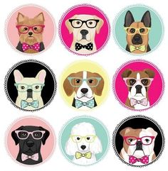Top Dogs by Anne Was Here Dog Logo, Puppy Party, Dog Crafts, Dog Illustration, Cartoon Dog, Dog Art, Cute Wallpapers, Pet Dogs, Images
