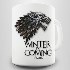 Winter is #coming gift mug - dire wolf & stark #quote #inspired by game of throne,  View more on the LINK: http://www.zeppy.io/product/gb/2/262244001049/
