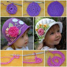 Crochet Panama Hats for girls DIY F Wonderful DIY Pretty Crochet Panama Hats for Girls