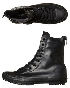 CONVERSE CHUCK TAYLOR ALL STAR HI RISE RUBBER BOOT - BLACK
