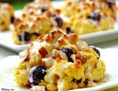 Blueberry, Juniper, And Cornmeal Drop Scones Recipe — Dishmaps