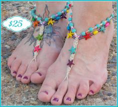8e2a8f0a6b99 Log in. Beaded SandalsBare Foot SandalsStarfishBarefootSole