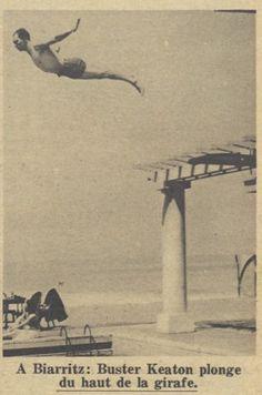 Buster plonge à BIarritz 21 août 1930
