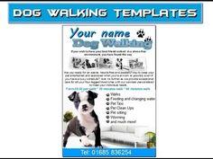 dog walking flyer leaflets templates