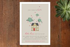 Home Is Where the Heart Is Bridal Shower Invitations by Jennifer Postorino at minted.com