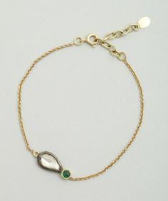 Amrapali diamond and emerald chain bracelet
