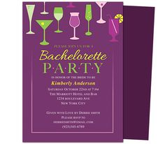 Printable DIY Bachelorette Party Invitations Templates : Cocktail Bachelorette Party Invitation Template. This bachelorette party invitation design offers a variety of mixed drinks ready to let your invitees know, it's time to party!