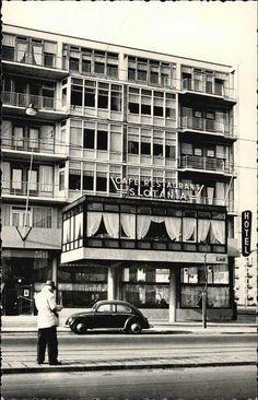 Reclamekaart van hotel Slotania. Hoek Slotermeerlaan en Burgemeester De Vlugtlaan. Voor 1960