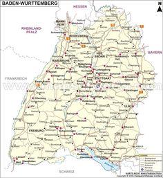 Landkarte Baden Wuttemberg