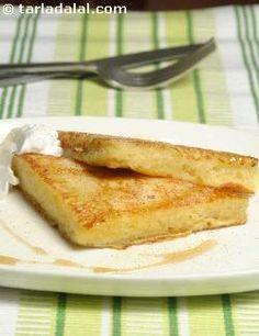 French Toast recipe | by Tarla Dalal | Tarladalal.com | #22625