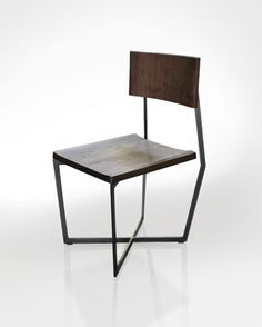 "Chair by Atlas Industries, Commissioned by Wallpaper* magazine for the ""Wallpaper* Handmade"" project - solid walnut, blackened steel"