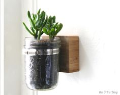 how to hang a mason jar on the wall - Google Search