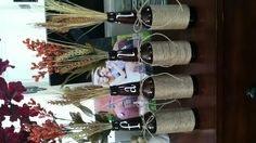 Re-Purposed Beer Bottles for FALL decor! So easy & quick!