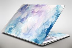 Light Blue 3 Absorbed Watercolor Texture - Apple MacBook Air or Pro Skin Decal Kit (All Versions Available)