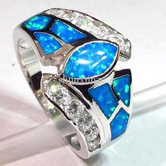 925 Silver Fire Opal Ring - Love love love this ~ showing Santa now!