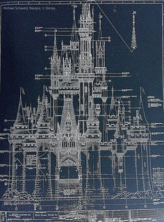 My Life is Disney - Site Title Vintage Architecture, Church Architecture, Architecture Details, Walt Disney Characters, Blueprint Art, Architectural Engineering, Erin Condren Life Planner, Technical Drawing, Disney Drawings