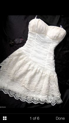 NOTE: I will be selling this dress in size L--it was worn for maybe 1.5 hours at reception  Country girl shortie wedding dress -- perfect to wear with cowboy boots