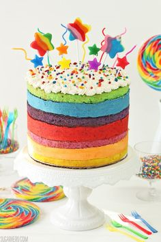 Rainbow Mousse Cake - SugarHero