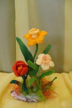 Flores de crochê.  Seleção de inspiração (19) (464x700, 210Kb)