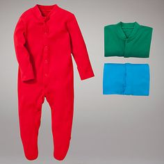 Buy John Lewis Baby Plain Sleepsuits, Pack of 3, Multi Online at johnlewis.com £6