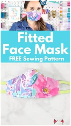 How to Sew a Bias Tape Surgical Face Mask with Flexible Nose   Sweet Red Poppy Learn How to Easily Sew a Fitted Surgical Face Mask With Ties and Flexible Nose Piece With This Step-By-Step Tutorial With Video<br> Learn to sew a Close-Fitting Cotton Face Mask with Bias Tape or Elastic and a Flexible Nose Wire. A tutorial featured by Sweet Red Poppy. Click here now!! Diy Sewing Projects, Sewing Projects For Beginners, Sewing Tutorials, Dress Tutorials, Sewing Tips, Sewing Hacks, Scrap Fabric Projects, Sewing Basics, Craft Tutorials