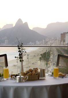 Breakfast at the Fasano Hotel in Rio de Janeiro, Brazil.