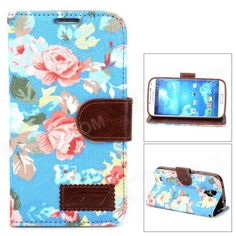 Brand: N/A; Quantity: 1 Piece; Color: Blue + brown; Material: PU Leather; Compatible Models: Samsung S4 i9500; Packing List: 1 x Case; http://j.mp/VG1PEe