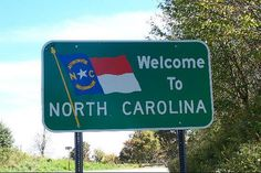North Carolina Welcome Sign. by J. Stephen Conn, via Flickr (looks like according to the map W/we will go through North Carolina.....thought W/we did.....Asheville...)