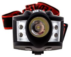 Dark Lite LED Headlamp flashlight Bundle with Extra Flashlight, 1 Watt CREE LED and Red LED -- Details can be found  : Camping stuff
