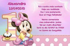 Convite digital personalizado Baby Disney 024