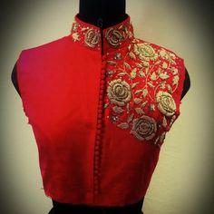 Shoulder designed for high neck blouses.. get it done at http://mytailor.in