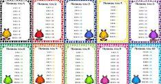 Καρτέλες με τους πίνακες πολλαπλασιασμού (πατήστε πάνω στην εικόνα για να κατεβάσετε τις καρτέλες σε μορφή word). Math Subtraction, Greek Alphabet, Kids Corner, Mathematics, Back To School, Kids Rugs, Teaching, Blog, Maths