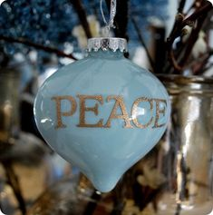 I have made these Christmas Ornaments for years...I use three different colors (one usually a gold, bronze, silver) and I don't use water. I clean then first with white vinegar. I have never used the stickers before, but love the idea. They are so easy and everyone LOVES them