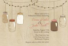 Vintage Hanging Mason Jars  Custom Rehearsal by silverscraps, $16.00