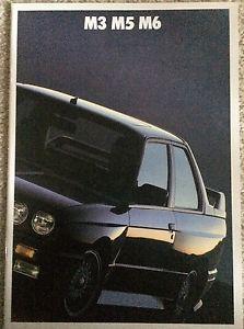 1988 1989 BMW Brochure E30 M3 E28 M5 E24 M6 Catalog Motorsport M ...