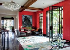 Modern Entrance Hall by Nancy Heller in Los Angeles, California
