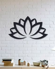 Symbol of Eternal Life Lotus Design Metal Wall Art, Lotus Flower Art, Yoga Metal Wall Decor, Thanksgiving 2018 gift
