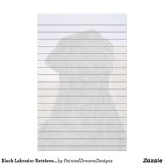 Black Labrador Retriever Dog Print Stationery