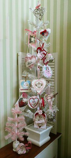 Valentine Ornament Swap Tree