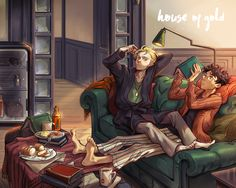 House of Gold drarry fanbook cover by huanGH64 on DeviantArt