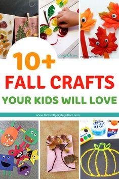 Are you looking for fun craft ideas for your kids this Fall?  These fall crafts for kids are great for toddlers, preschoolers, and even elementary kids.  Easy Fall Crafts Your Kids Will Love from livewellplaytogether.com | #fallcrafts #fallcraftsforpreschool #preschoolcrafts