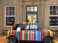 "Paul Smith Iconic stripes. Love this Mini Cooper. When 2 iconic designs got ""married""!"