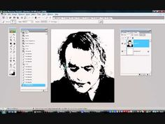 Tutorial on turning an image into a stencil using photoshop. - YouTube