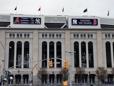 Simple classy tributr to Boston outside Yankee Stadium 4/16/2013. They also played Red Sox signature 7th inning song Sweet Caroline