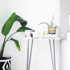 This DIY marble side table will take you a matter of minutes ... literally. There is one step involved.
