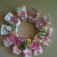 Cute baby shower wreath