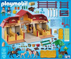 Playmobil Pony Ranch - Large Horse Farm with Paddock and thousands more of the very best toys at Fat Brain Toys. A Horse Farm to be impressed with. The expansive horse ranch and property bring kids lasting entertainmen. Play Mobile, 6th Birthday Parties, Birthday Wishes, Ukulele Design, Barbie Horse, Playmobil Sets, Baby Doll Nursery, Virtual Pet, Horse Farms