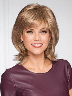 Devotion Wig by Gabor: Better than the fountain of youth, this age-defying shoulder length cut has a full bang and face-framing sides. Medium Hair Styles, Short Hair Styles, Natural Hair Styles, Long Wigs, Shoulder Length Hair, Layered Haircuts Shoulder Length, Womens Wigs, Girl Short Hair, Long Hair Cuts