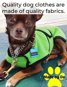 Dog clothes that are well made of quality fabric can hold up for years of use. Small Dog Coats, Small Dogs, Little Dogs, Life Is Good, Fabric, Animals, Clothes, Little Puppies, Tejido